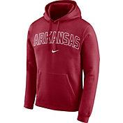 Nike Men's Arkansas Razorbacks Cardinal Club Arch Pullover Fleece Hoodie