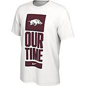 Nike Men's Arkansas Razorbacks 'Our Time' Bench White T-Shirt