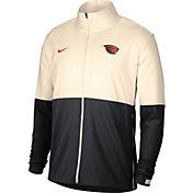 Nike Men's Oregon State Beavers Cream/Black Colorblock Woven Full-Zip Jacket