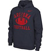 Nike Men's Arizona Wildcats Navy Pullover Football Hoodie