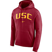 Nike Men's USC Trojan Cardinal Club Arch Pullover Fleece Hoodie