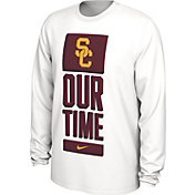 Nike Men's USC Trojans 'Our Time' Bench Long Sleeve White T-Shirt