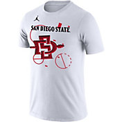 Jordan Men's San Diego State Aztecs Bench White T-Shirt