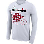 Jordan Men's San Diego State Aztecs Bench Long Sleeve White T-Shirt