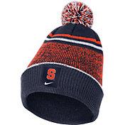 Nike Men's Syracuse Orange Blue Football Sideline Cuffed Pom Beanie
