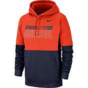 Nike Men's Syracuse Orange Orange Therma-FIT Sideline Fleece Football Hoodie