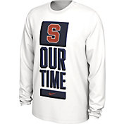 Nike Men's Syracuse Orange 'Our Time' Bench Long Sleeve White T-Shirt