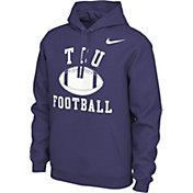Nike Men's TCU Horned Frogs Purple Pullover Football Hoodie
