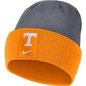Nike Men's Tennessee Volunteers Tennessee Orange/Grey Dri-FIT Football Sideline Cuffed Knit Beanie