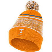 Nike Men's Tennessee Volunteers Tennessee Orange Football Sideline Cuffed Pom Beanie