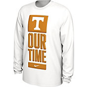 Nike Men's Tennessee Volunteers 'Our Time' Bench Long Sleeve White T-Shirt