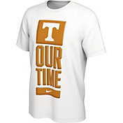 Nike Men's Tennessee Volunteers 'Our Time' Bench White T-Shirt