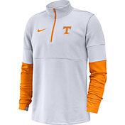 Nike Men's Tennessee Volunteers Football Sideline Therma-FIT Half-Zip White Shirt