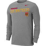 Nike Men's Tuskegee Golden Tigers Grey Dri-FIT Cotton Long Sleeve T-Shirt