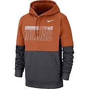 Nike Men's Texas Longhorns Burnt Orange Therma-FIT Sideline Fleece Football Hoodie