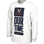 Nike Men's Virginia Cavaliers 'Our Time' Bench Long Sleeve White T-Shirt