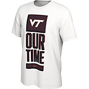 Nike Men's Virginia Tech Hokies 'Our Time' Bench White T-Shirt