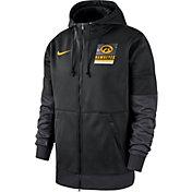 Nike Men's Iowa Hawkeyes Therma Football Sideline Full-Zip Black Hoodie