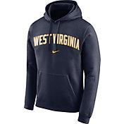 Nike Men's West Virginia Mountaineers Blue Club Arch Pullover Fleece Hoodie