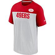 Nike Men's San Francisco 49Ers Silver Rewind Historic Wordmark Colorblock T-Shirt