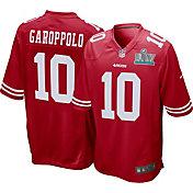 Nike Men's Super Bowl LIV Patch San Francisco 49ers Jimmy Garoppolo #10 Home Game Jersey