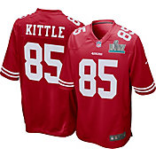 Nike Men's Super Bowl LIV Patch San Francisco 49ers George Kittle #85 Home Game Jersey