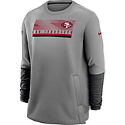 Nike Men's San Francisco 49ers Sideline Coaches Grey Crew Sweatshirt