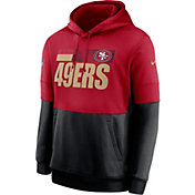 Nike Men's San Francisco 49ers Sideline Lock Up Pullover Red Hoodie