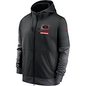 Nike Men's San Francisco 49Ers Sideline Lock Up Full-Zip Black Hoodie