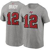Nike Men's Tampa Bay Buccaneers Tom Brady #12 Grey Logo T-Shirt