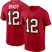 Nike Men's Tampa Bay Buccaneers Tom Brady Logo Red T-Shirt