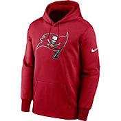 Nike Men's Tampa Bay Buccaneers Sideline Therma-FIT Red Pullover Hoodie