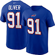 Nike Men's Buffalo Bills Ed Oliver #91 Old Royal T-Shirt