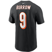 Nike Men's Cincinnati Bengals Joe Burrow #9 Logo T-Shirt