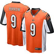 Nike Men's Cincinnati Bengals Joe Burrow #9 Alternate Orange Game Jersey