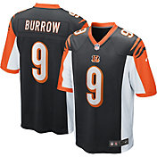 Nike Men's Cincinnati Bengals Joe Burrow #9 Home Black Game Jersey