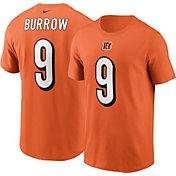 Nike Men's Cincinnati Bengals Joe Burrow #9 Orange T-Shirt