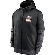 Nike Men's Cincinnati Bengals Sideline Lock Up Full-Zip Black Hoodie
