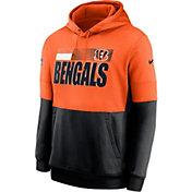 Nike Men's Cincinnati Bengals Sideline Lock Up Pullover Orange Hoodie