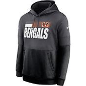 Nike Men's Cincinnati Bengals Sideline Lock Up Pullover Grey Hoodie