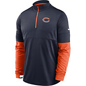 Nike Men's Chicago Bears Sideline Coach Performance Navy Half-Zip Pullover
