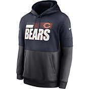 Nike Men's Chicago Bears Sideline Lock Up Pullover Navy Hoodie