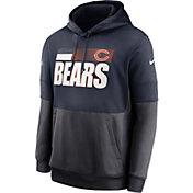 Nike Men's Chicago Bears Sideline Lock Up Pullover Navy Hoodie