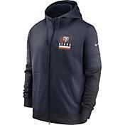 Nike Men's Chicago Bears Sideline Lock Up Full-Zip Navy Hoodie