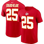 Nike Men's Kansas City Chiefs Clyde Edwards-Helaire #25 Legend Red T-Shirt