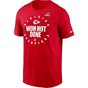 Nike Men's Kansas City Chiefs AFC West Division Champions Red T-Shirt