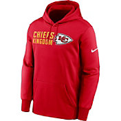 Nike Men's Kansas City Chiefs University Red Therma Pullover Hoodie
