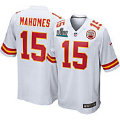 Nike Men's Super Bowl LIV Patch Kansas City Chiefs Patrick Mahomes #15 Away Game Jersey