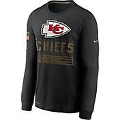 Nike Men's Salute to Service Kansas City Chiefs Black Long Sleeve Shirt