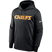 Nike Men's Kansas City Chiefs Sideline Therma-FIT Wordmark Black Pullover Hoodie